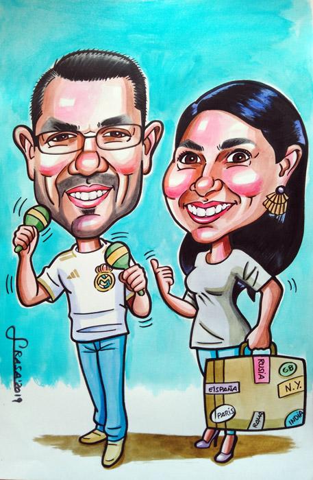 Caricaturas personalizadas online para regalos (Ana Maria)