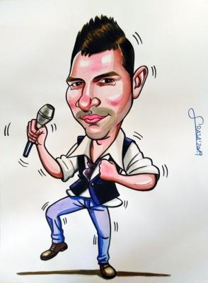 Caricaturas para particulares en 1 hora: Manoli