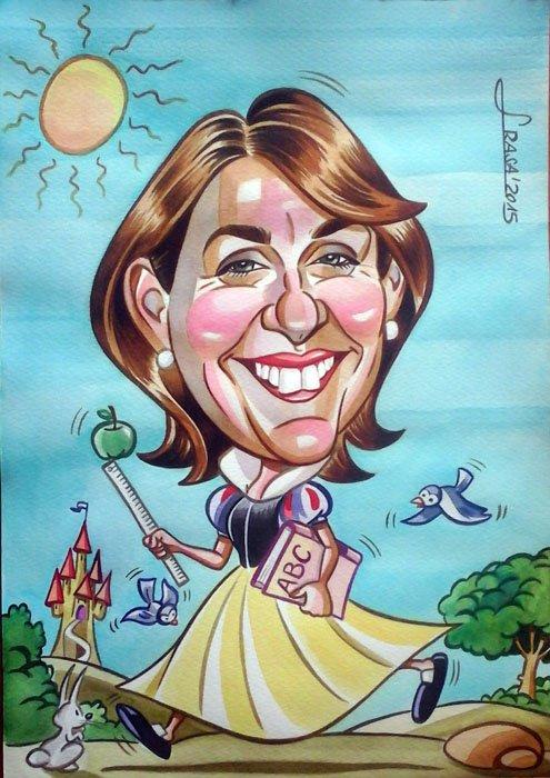 Caricatura personalizada para Mari Carmen