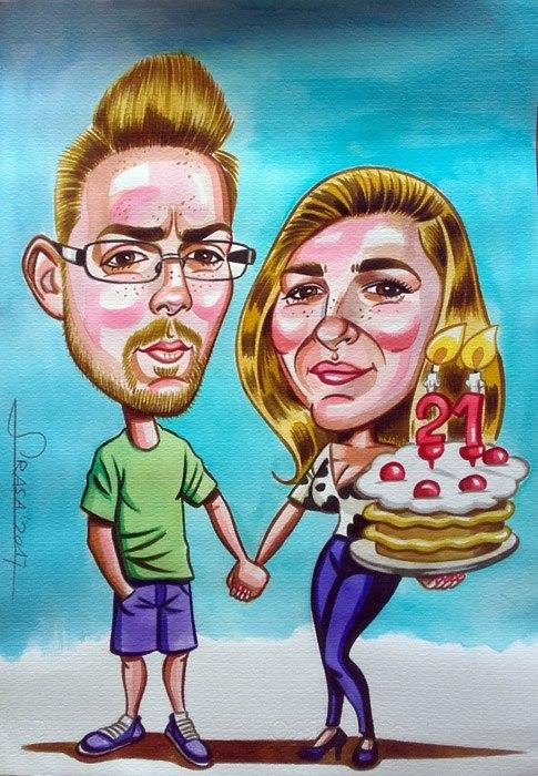 Caricatura personalizada para Raul