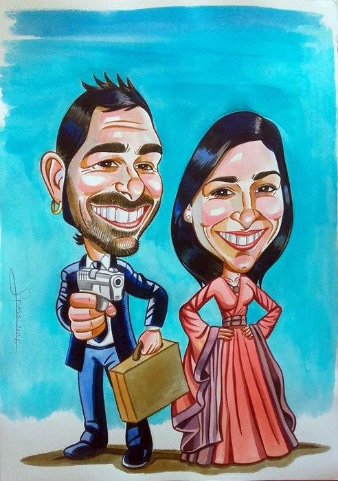 Caricatura personalizada para Shirin