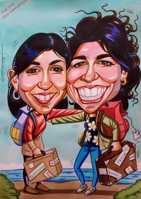 Caricatura personalizada para Ana Belén
