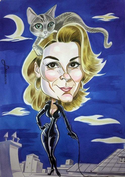 Caricatura personalizada para Olga