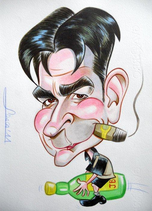 Caricatura de Charlie Sheen