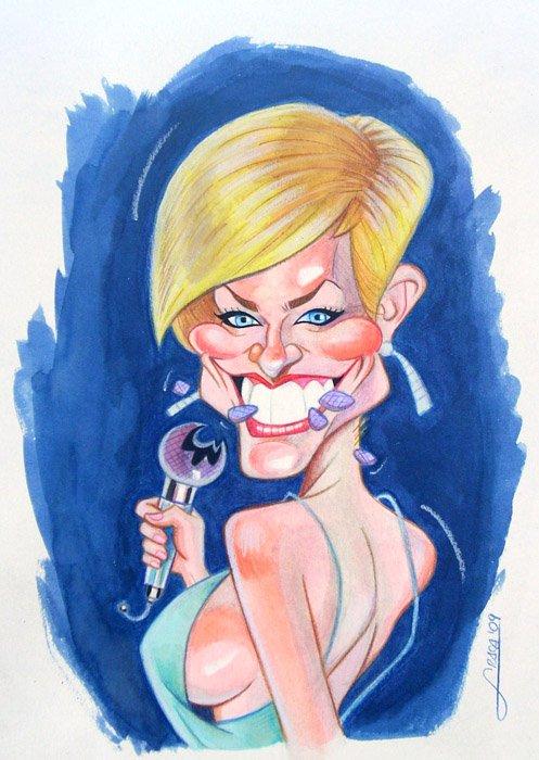 Caricatura de Soraya Arnelas