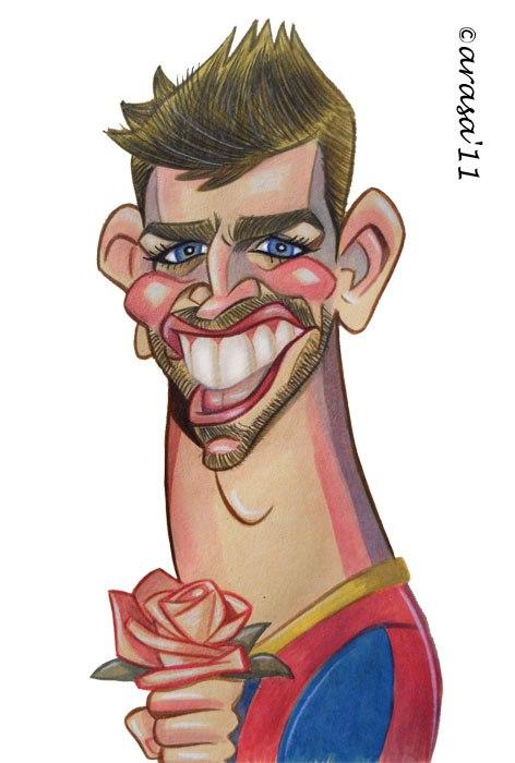 Caricatura de Gerard Piqué