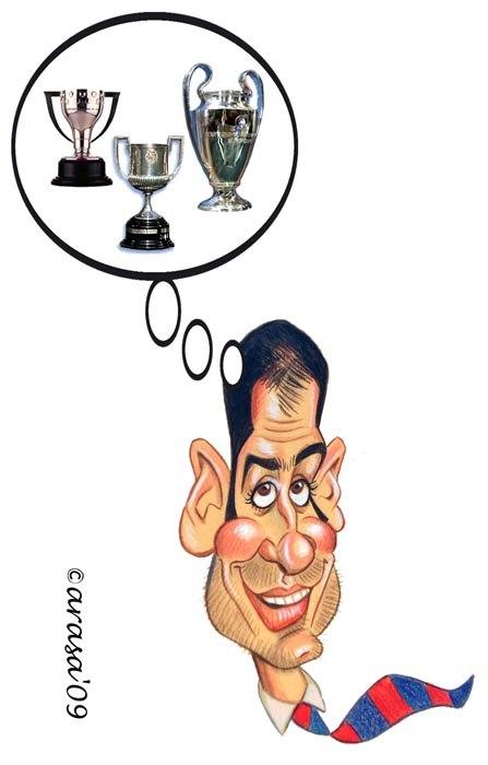 Caricatura de Josep Pep Guardiola