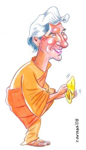 Caricatura de Richard Gere