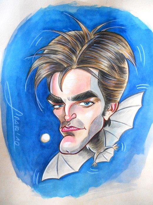 Caricatura de Robert Patinsson