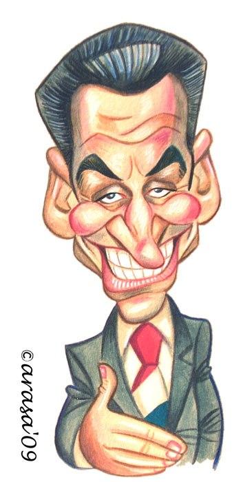 Caricatura de Sarkozy