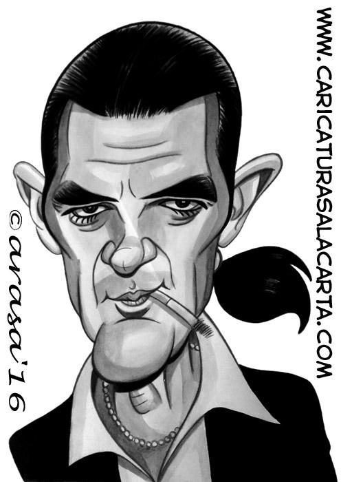 Caricaturas de famosos: Antonio Banderas