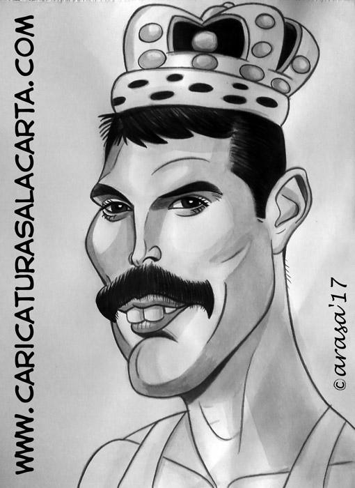Caricaturas de famosos: Freddie Mercury