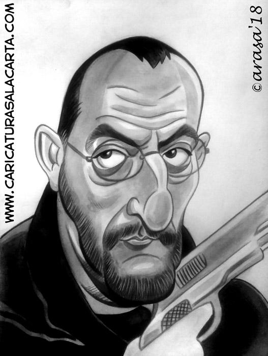 Caricaturas de famosos: Jean Reno