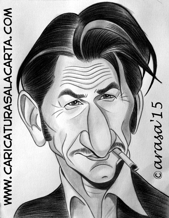 Caricaturas de famosos: Sean Penn