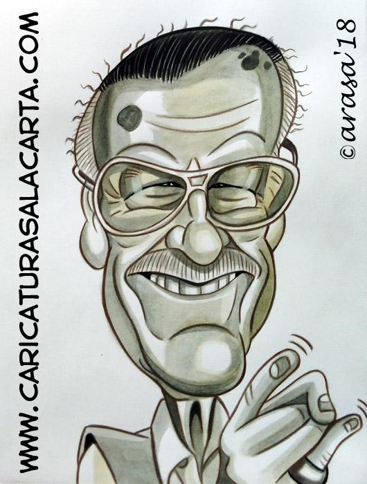 Caricaturas de famosos: Stan Lee de Marvel