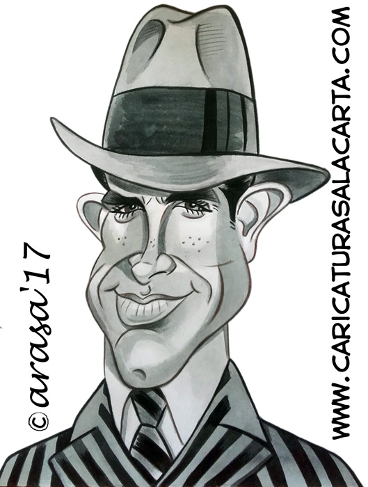 Caricaturas de famosos: Warren Beatty