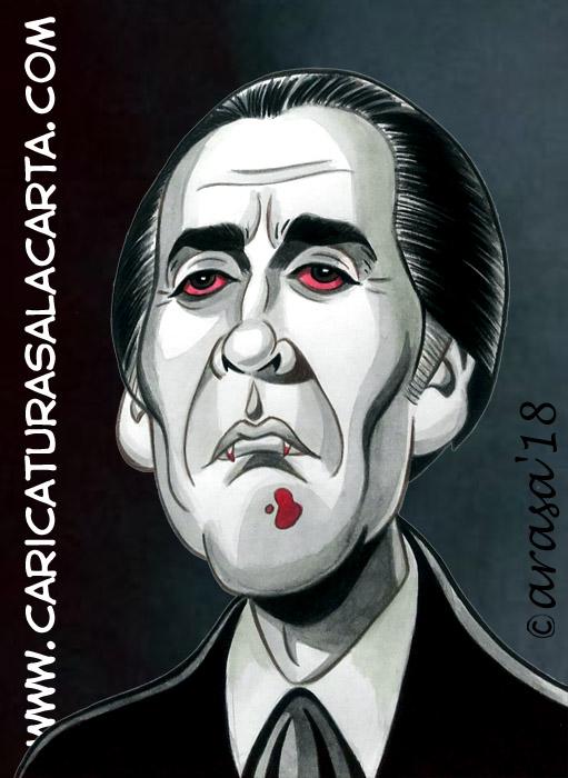 Caricaturas de famosos: Christopher Lee