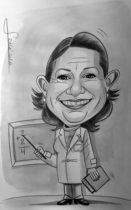 Caricatura personalizada para Ana