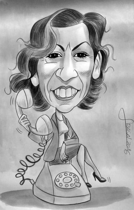 Caricatura personalizada para Silvia