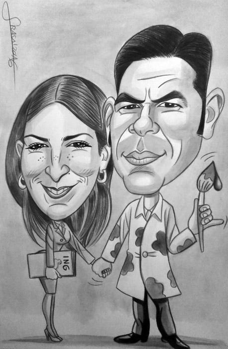 Caricatura personalizada para Vicente