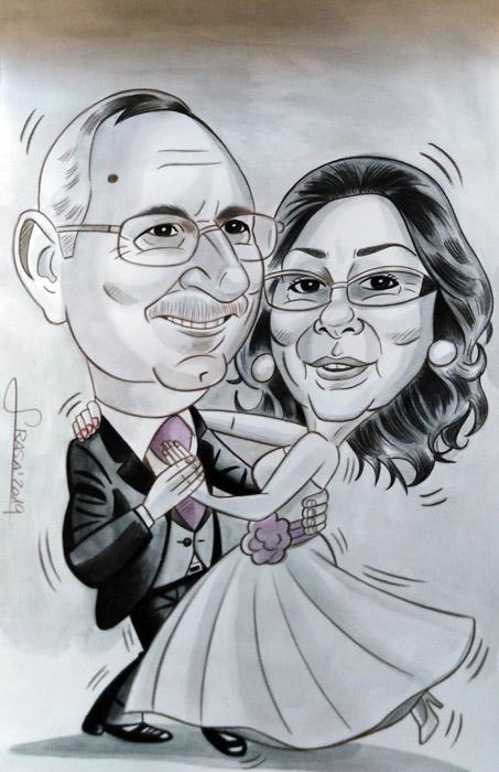Caricaturas personalizadas para particulares online: Merche