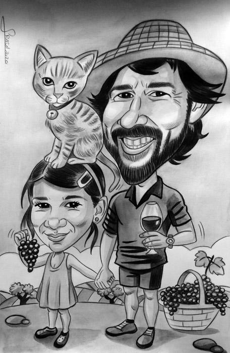 Caricaturas personalizadas para regalos originales: Sara