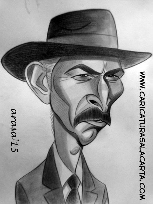 Caricatura de Lee Van Cleef