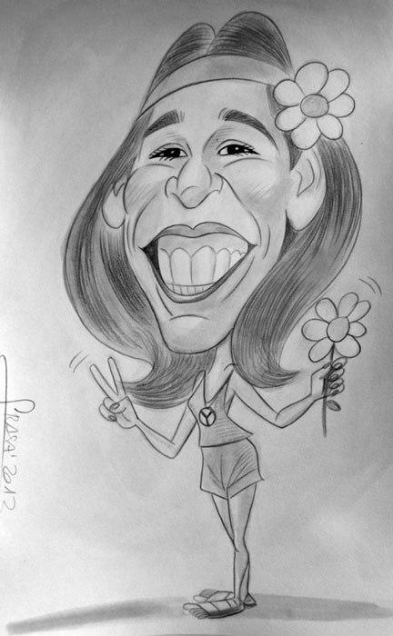 Caricatura de Boda Maria