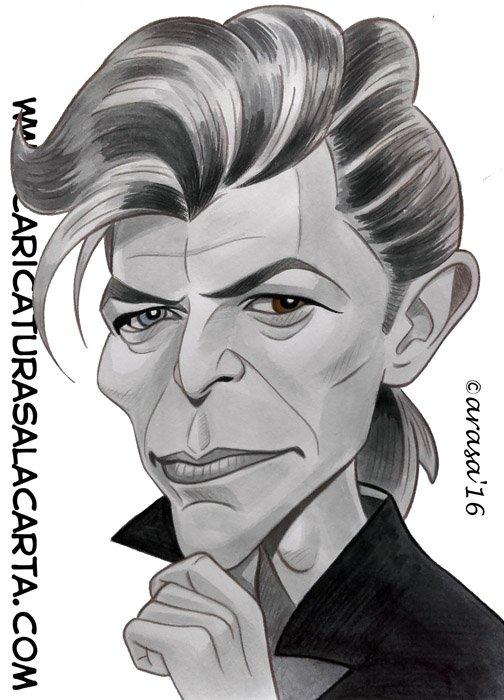 Caricaturas de famosos: David Bowie