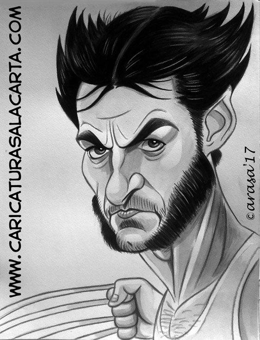 Caricaturas de famosos: Hugh Jackman Lobezno