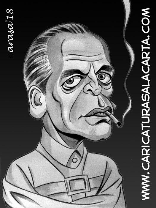 Caricaturas de famosos actores: Klaus Kinski