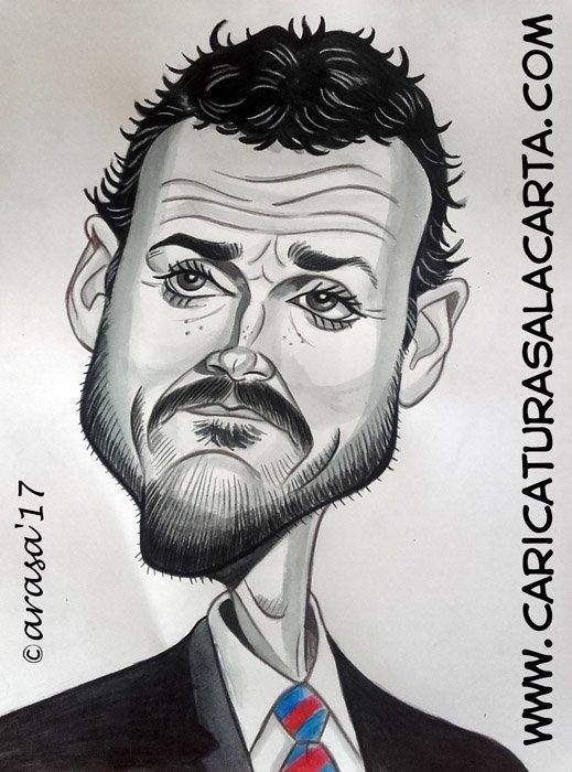 Caricaturas de famosos: Luis Enrique