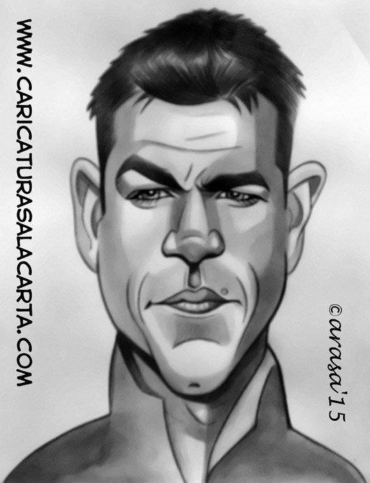 Caricaturas de famosos: Matt Damon