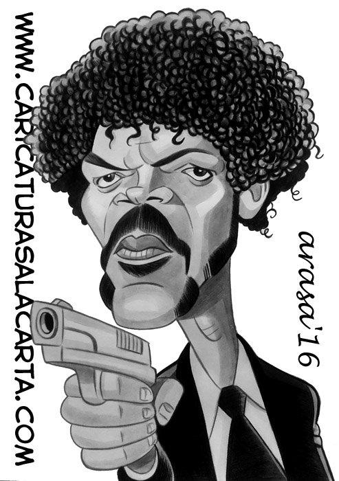 Caricaturas de famosos: Samuel L. Jackson