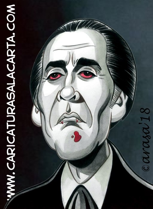 Caricaturas de famosos: Christopher Lee