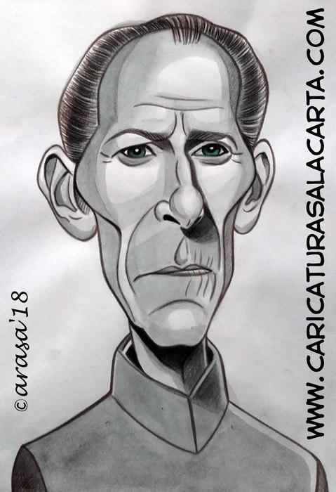 Caricaturas de famosos: Peter Cushing
