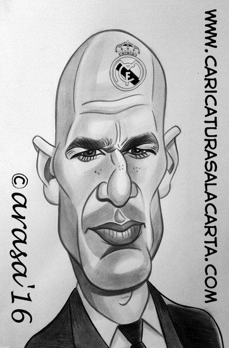 Caricaturas de famosos: Zinedine Zidane