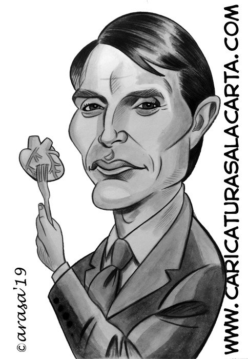Caricaturas de famosos: Mads Mikkelsen