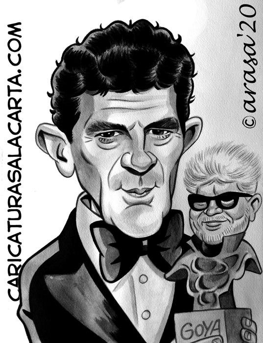Caricaturas personalizadas y de famosos: Antonio Banderas