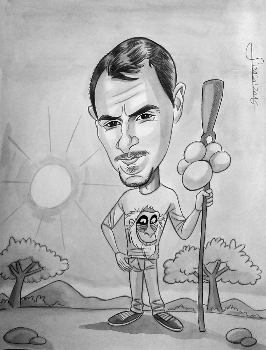Caricatura personalizada para Manu