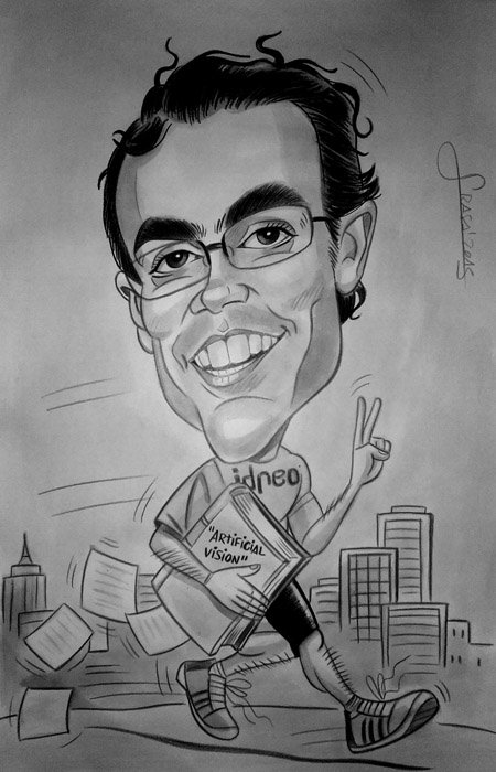 Caricatura personalizada para Marc