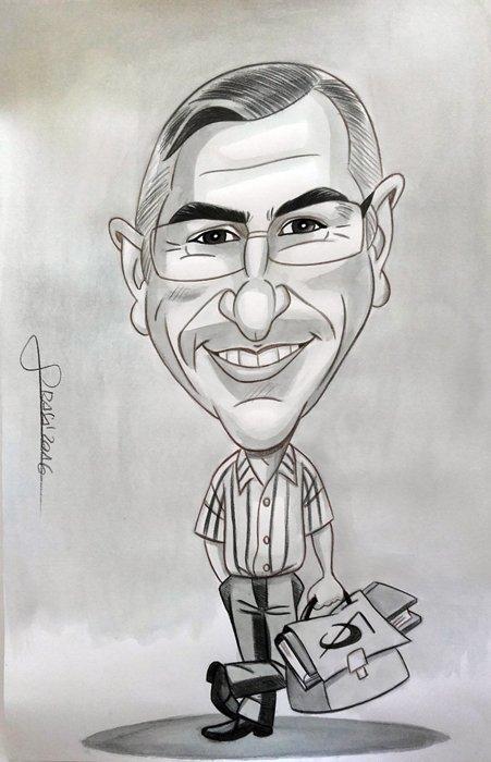 Caricatura personalizada para Rubén