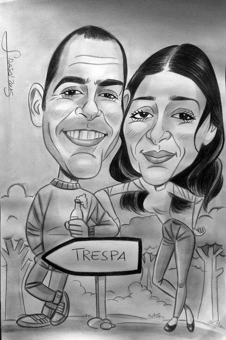 Caricatura personalizada para Vanesa