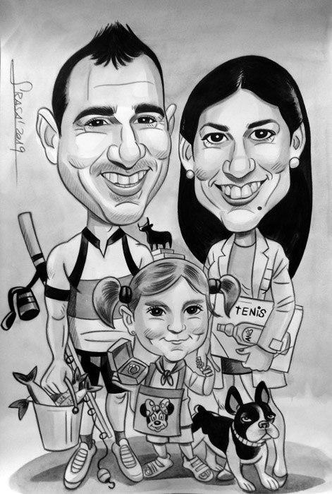 Caricaturas personalizadas para particulares online: Ester