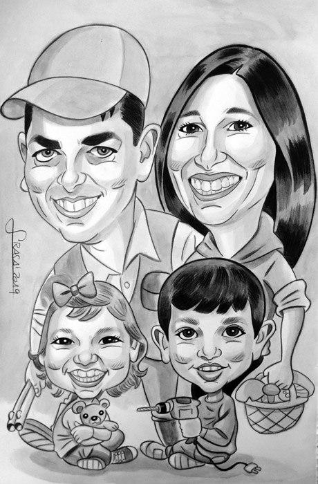 Caricaturas personalizadas para particulares online: Gemma
