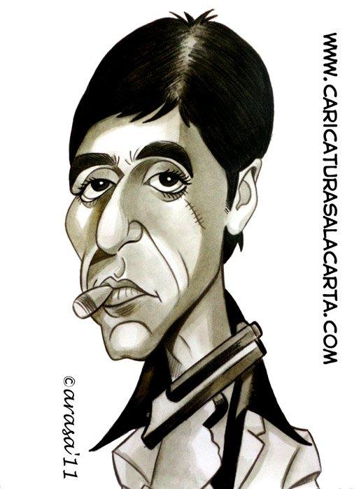 Caricaturas de actores famosos: Al Pacino