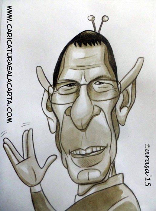 Caricatura de Leonard Nimoy