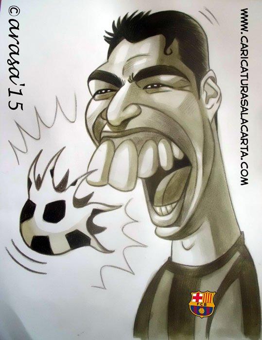 Caricatura de Luis Suárez