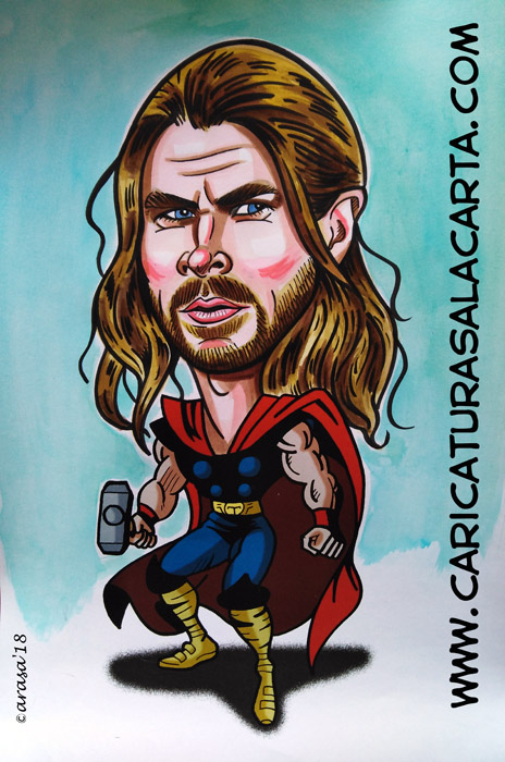 Caricatura de Chris Hemsworth