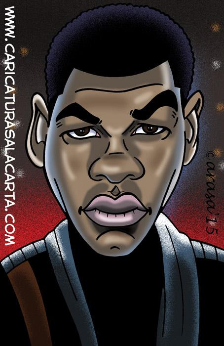 Caricatura John Boyega Star Wars